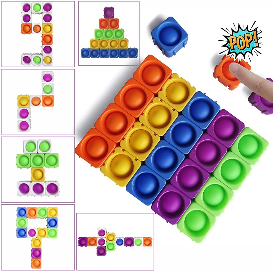 Big Pop Blocks Fidget Sensory Toys Push Toy Pops Max 65% OFF Ranking TOP10 Puzzle