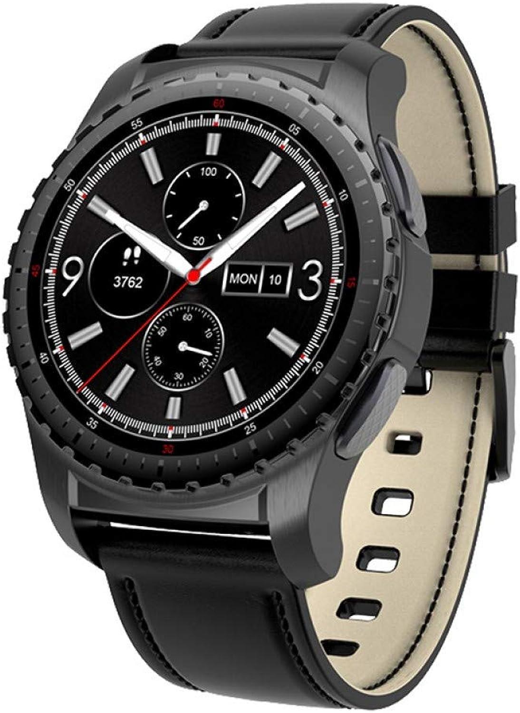 FJTYG Blautooth Smart Watch Unterstützung SIM Tf Karte Pulsmesser Smart Watch Pulsuhr Für Android Ios