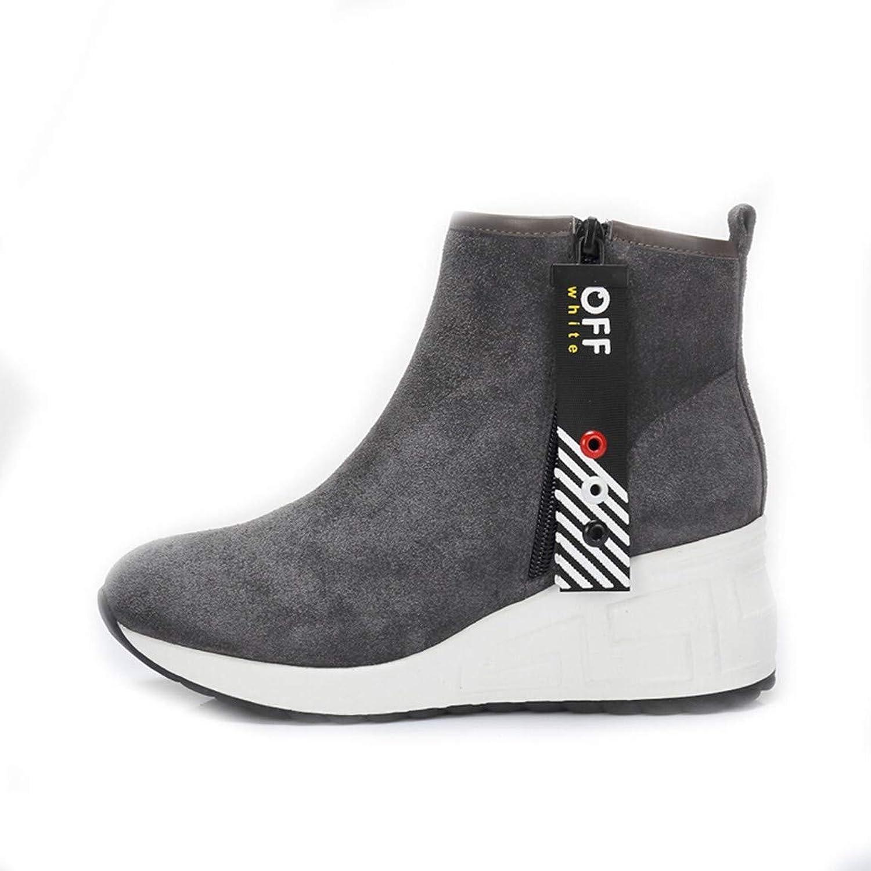 Cute girl Trendige Mode Für Frauen Reiverschluss Riemen Plattform Mode Stiefel Grau Einfache Frauen Stiefel