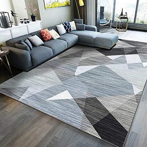 NF Alfombra grande, diseño geométrico 3D nórdico, rectangular, alfombra de salón, dormitorio, alfombra antideslizante, alfombra pequeña, 80 x 160 cm