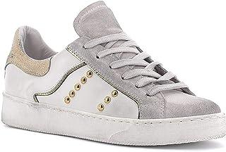 RICCIANERA Sneakers in Pelle con Borchie, Made in Italy - Colore Bianco
