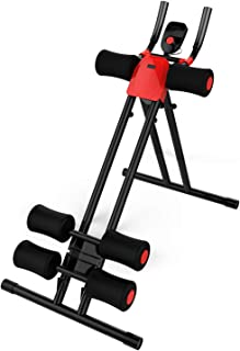 Nisorpa Height Adjustable Foldable Abdominal Trainer Whole Body Ab Workout Machine Home Gym Core Abdominal Equipment Waist Cruncher, Leg, Thigh, Side Shaper, Foldable Fitness Device LCD Counter