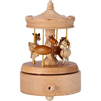 Fdit1 Meccanismo a orologeria Carosello Carillon in Legno Carillon in Legno Carillon Carillon Carillon Migliore Regalo di Compleanno per Bambini Amici di Ragazze