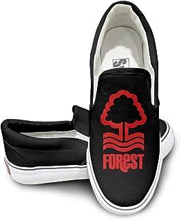 EWIED Unisex Classic Nottingham Forest Football Club Slip-On Shoes Black
