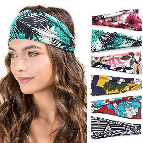 Women Headbands Workout Hair Band Girls Floral Style Bandana Yoga Running Boho Head Wrap Accessories Gift