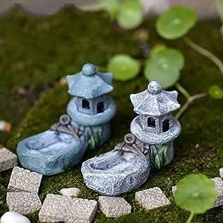 Mini Fairy Garden Ornament Retro Pond Tower Craft Dollhouse Plant Figurines Toys DIY Micro Landscape Ornament(sent in random)