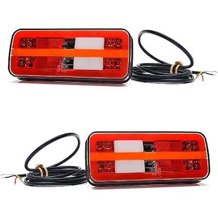 2 X Multifunktions Rückleuchten 12 V 24 V Rücklichter Dynamisches Blinker Lkw Anhänger Kipper Wohnwagen Auto