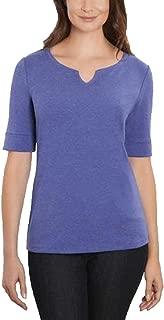 Ellen Tracy Womens Plus Elbow Sleeve Top, Size 3X-Large. Color Blue.