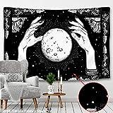 WERT Tapiz con Estampado de Mandala Multicolor, Tapiz de Tela de Fondo para decoración de Dormitorio de Pared India A3 150x200cm