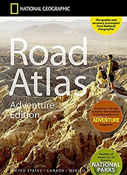 National Geographic Road Atlas 2021  Adventure Edition [United States Canada Mexico]