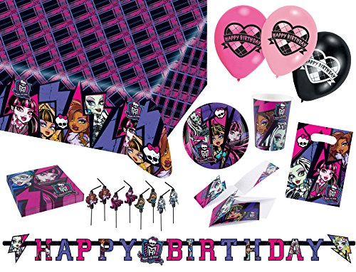 Amscan 9050 0226 Party Set Geschirr Monster High 2