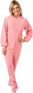 Big Feet Pajama's Pink Micro-Polar Fleece Adult Footed Pajamas Onesie NO Drop Seat