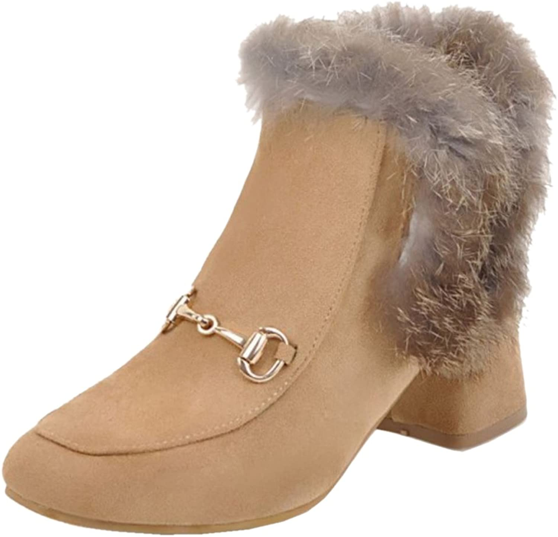 TAOFFEN Women's Ankle Boots Pumps shoes