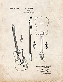 The Clarence Fender Telecaster Patent Print Old Look (5