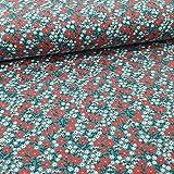 Schickliesel Jersey Stoff Meterware Blumenwiese grün