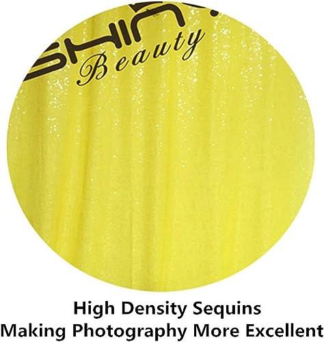 ShinyBeauty Tischdecke mit Pailletten, 228,6 x 33,2 cm, Gelb