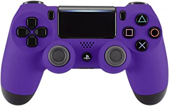 eXtremeRate® Soft Touch Grip Front Housing Shell Faceplate for Playstation 4 PS4 Slim PS4 Pro Controller (CUH-ZCT2 JDM-040 JDM-050 JDM-055) (Purple)