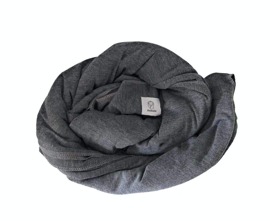 Grau Tragetuch Baby elastisch bis 16kg mobebi Babytragetuch f/ür Neugeborene weiche Baumwolle