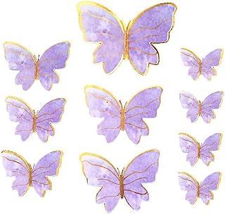 5 set 50 st fjärilsklistermärken tårtdekoration handgjord fjäril 3D fjäril tårtdekoration för födelsedagstårta festdekorat...