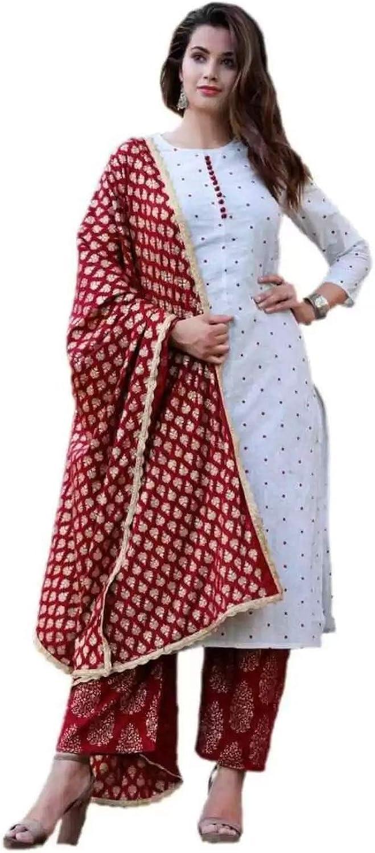 Kurti おすすめ for women's Indian Tunic Tops Printed 本日の目玉 Rayon K Cotton Solid