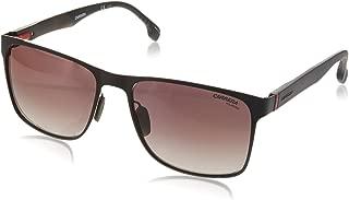 Carrera Men's 8026/s Polarized Square Sunglasses, Matte Brown, 57 mm