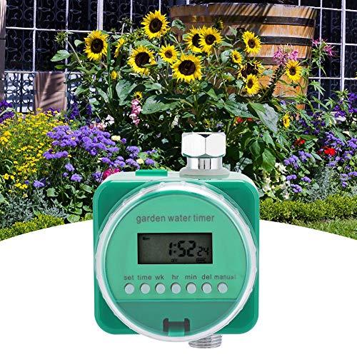 Changor Automático Jardín Irrigación Temporizador, 9V Batería (No Incluido) Abdominales Cobre Aleación 9V 20L/Minuto por Rociar Goteo Irrigación