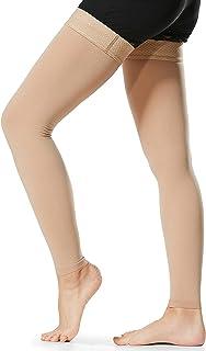 1 زوج جوارب ضاغطة عالية للفخذ للرجال والنساء 20-30 مم زئبقي جوارب ضغط الأكمام للهوغي