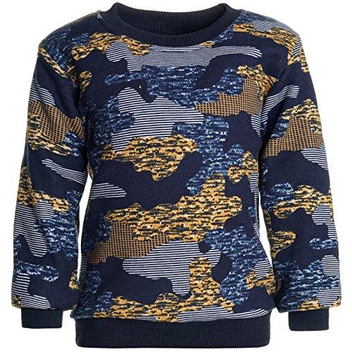 BEZLIT Jungen Camouflage Pullover Sweatshirt Pulli 21521 Braun Größe 140