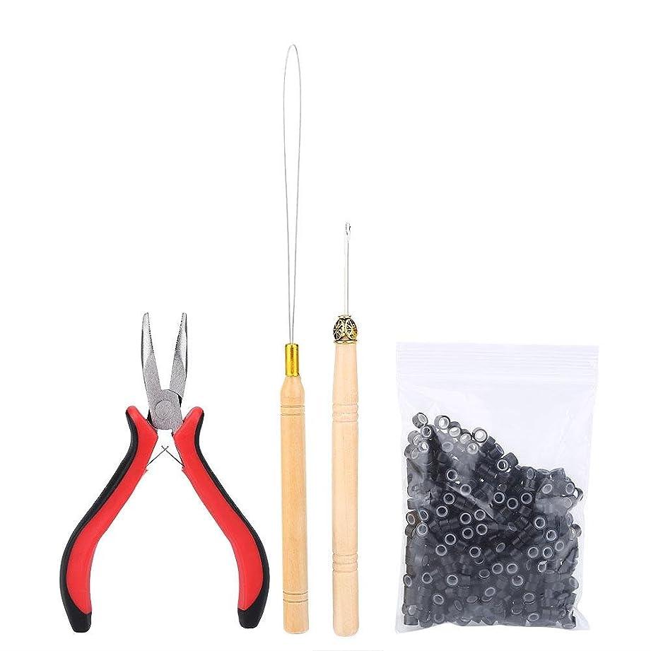 植木演じる姪ヘアエクステンションキット、ヘアコネクタセットプロのヘアエクステンションツールセットかつらコネクタヘアスタイラーかつらアクセサリー(01#)
