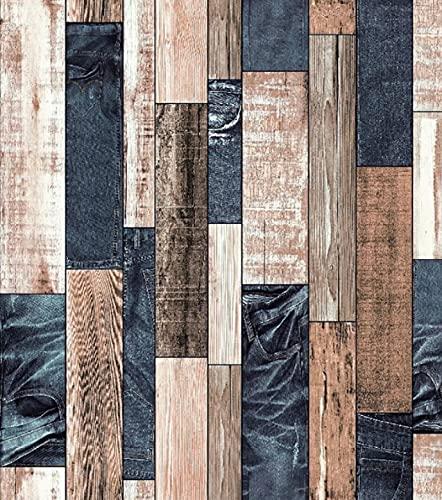 Personalidad retro imitación madera grano papel tapiz bar tienda de ropa papel tapiz marrón