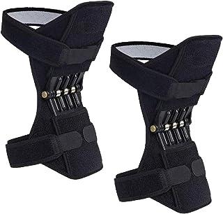 2 بسته پشتیبانی مفصل زانو بند قدرت مادالا ، پد تثبیت کننده زانو قدرت ، تقویت کننده دنده محافظ با فنرهای قدرتمند برای مردان / زنان پا ضعیف ، آرتروز ، درد پارگی مینیسک ، تناسب اندام و ورزش
