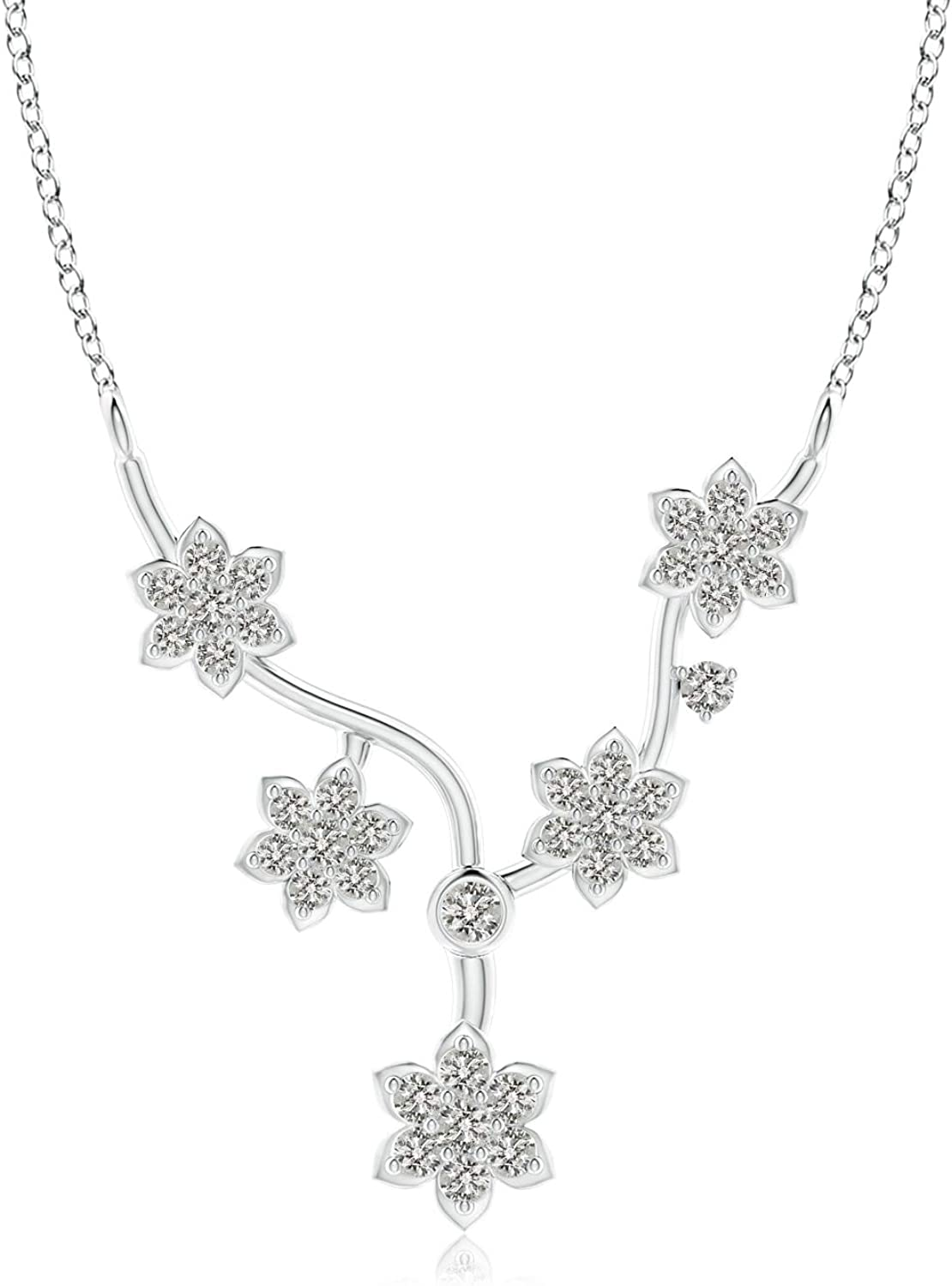 Diamond Floral Superior Fashion 0.393 Necklace cttw National products