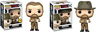 Funko POP Television: Stranger Things Hopper LIMITED EDITION CHASE and Hopper NON CHASE Toy Action Figure - 2 Pack BUNDLE