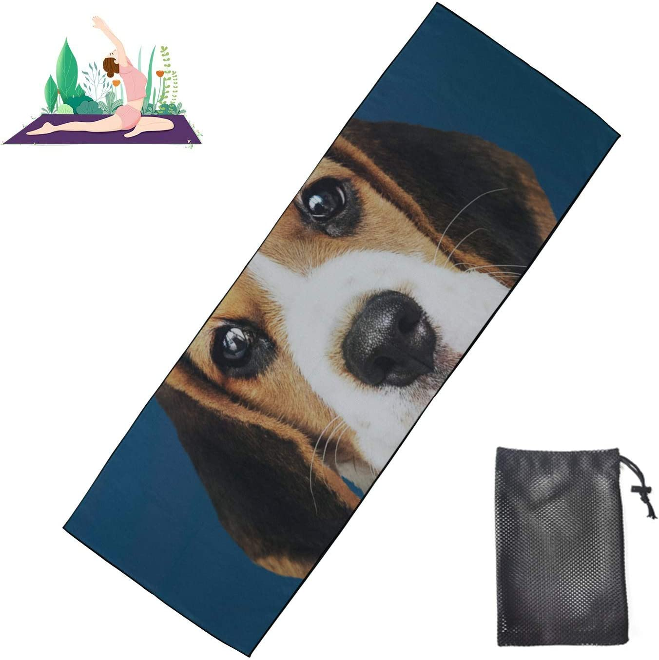 Huqalh Teen Yoga Mat Cute Happy Hot Men Towel Selling and selling Wear Dog New Shipping Free Tie