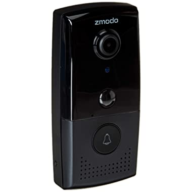Zmodo Greet HD Wireless Video Doorbell Home Security Camera 1080p Full HD, Two-way Audio, Motion Detection, Support Google Assistant, Work With Alexa (Existing Doorbell Wiring Required)