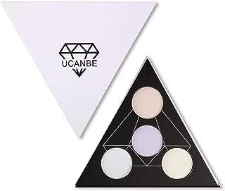 UCANBE Highlighter Palette Shimmer Illuminating Powder Makeup Satin Glow Kit - Revamp Your Face Eye Lip Color Highlighting Finish (A)
