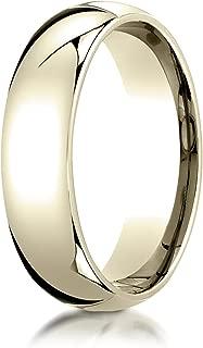 Men's 14K Yellow Gold 6mm Slim Profile Comfort Fit Wedding Band Ring