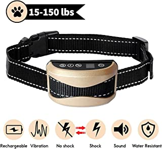 Tebaba Dog Bark Collar - Newest 2019 Rechargeable Anti Bark Collar - Stop Barking with Beep/Vibration/No Harm Shock - Waterproof Barking Control Collar for Small Medium Large Dogs