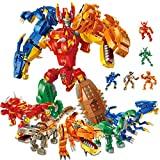 PANLOS 11 in 1 Robot Dinosaur Stem Toy Engineering Learning Building Bricks Kits Building Blocks Set for Boys & Girls 6 7 8 9 Years Old Tight Fit and Compatible with All Major Brands 1215 PCS