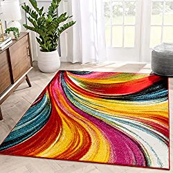 colorful area rugs for babies and toddlers to hide the dirt