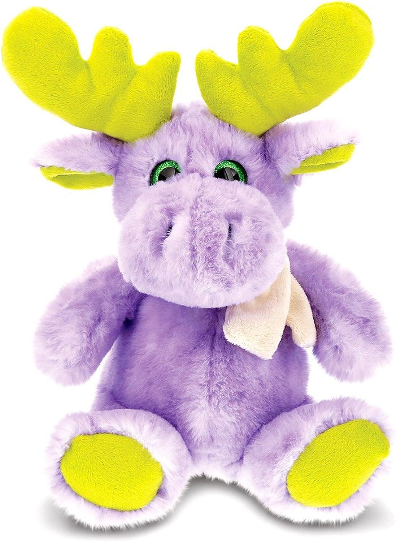 CoTa Global Sitting Purple Moose with Scarf - 11 inch - Super Soft Plush - Item  5454