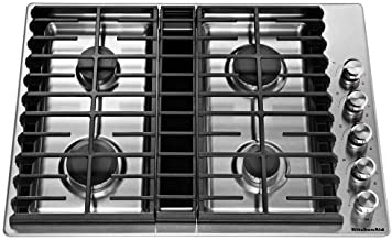 built-in downdraft gas cooktop