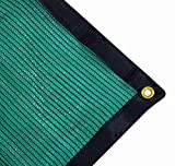 Harvest 70% Green Shade Cloth with Grommets , Premium Heavy Duty Mesh Tarp (12ft X 10ft)