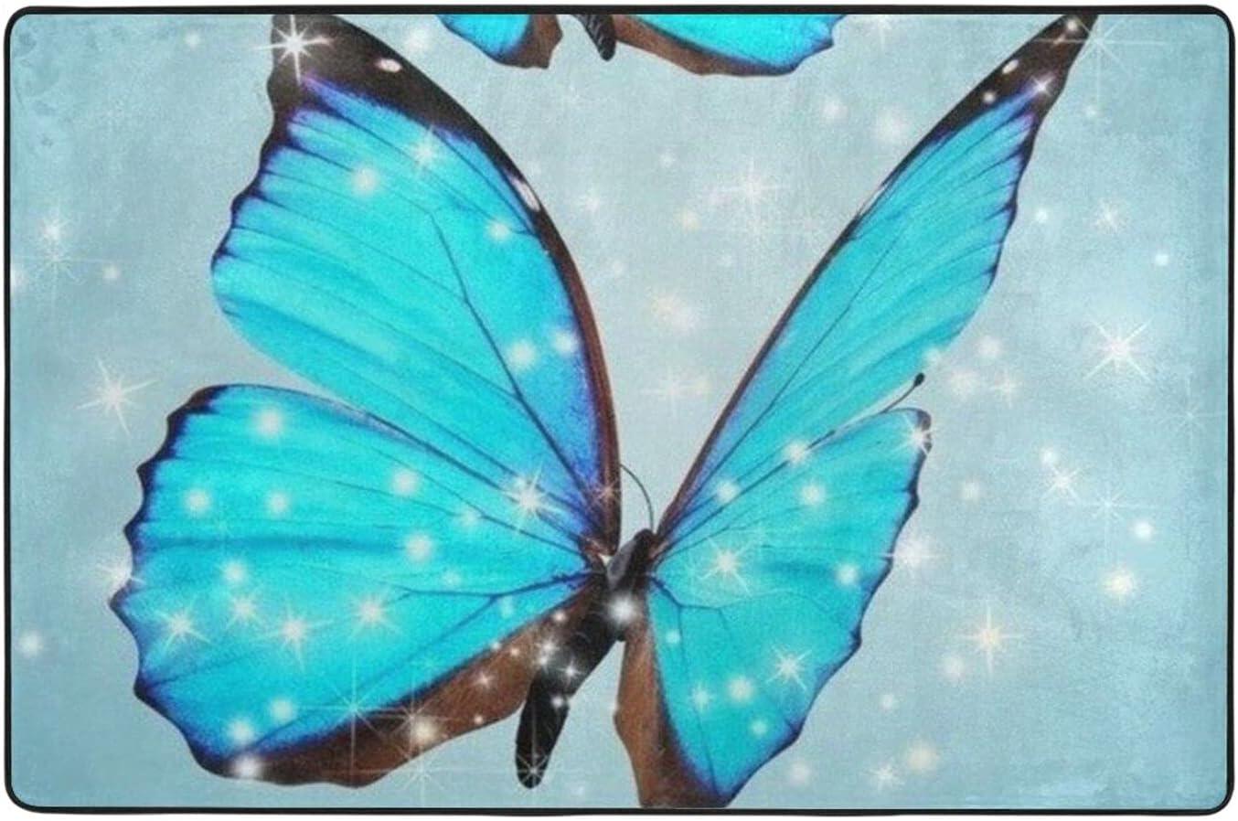 duoyush Animal Butterfly Luxury OFFicial site Brand Cheap Sale Venue Bathroom Mat Bath Non-Slip Rugs