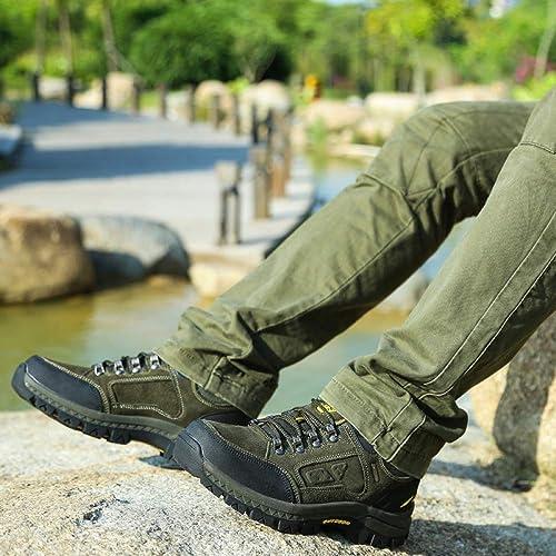 Jinhaixue Hauszapatos de Trail Running Hauszapatos de Montaña para Hombre Senderismo Antideslizante