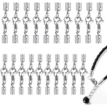 20 Stk.s Lederband Halsband Halskette Kette Für Schmuckherstellung Schwarz