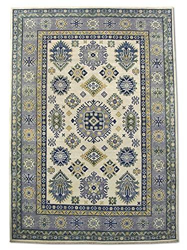 Pak Persian Rugs Tapis Fait À La Main Kazak, Crème, Laine, Medium, 167 X 239 cm