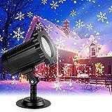 Luces Proyector de Navidad, luces de proyección de copo de nieve decorativas para Interior y exterior con control remoto impermeable, adecuadas para fiestas, Navidad, fiestas [Ahorro de energía A +]