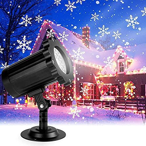 Luces Proyector de Navidad, luces de proyección de copo de nieve decorativas...