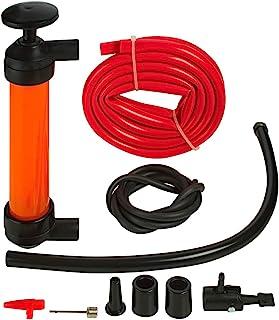 Katzco Transferência de líquido, bomba manual de sifão – 2 mangueiras, 127 x 0,5 polegadas – para gás, óleo, ar, inseticid...